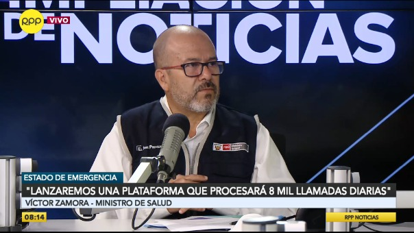 Víctor Zamora, ministro de Salud, en RPP.
