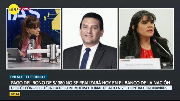 Secretaria técnica de la Comisión Multisectorial de Alto Nivel contra el coronavirus, Desilú León.