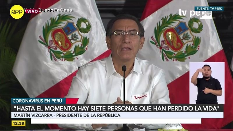 Martín Vizcarra ofreció su habitual conferencia de prensa en la que informó sobre las acciones que su Gobierno está tomando frente a la crisis.