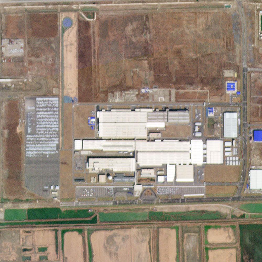 1 de mayo de 2019. La planta de Volkswagen funciona normalmente ensamblando autos en Tianjin, China.