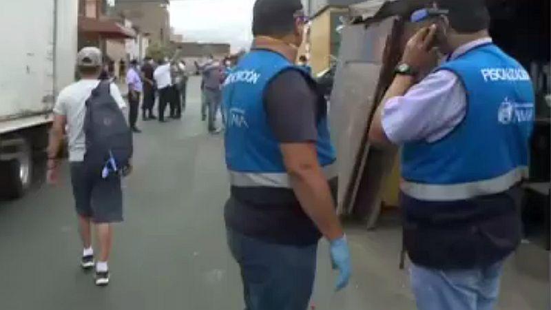 Así se realizó el operativo en la avenida Nicolás Ayllón.