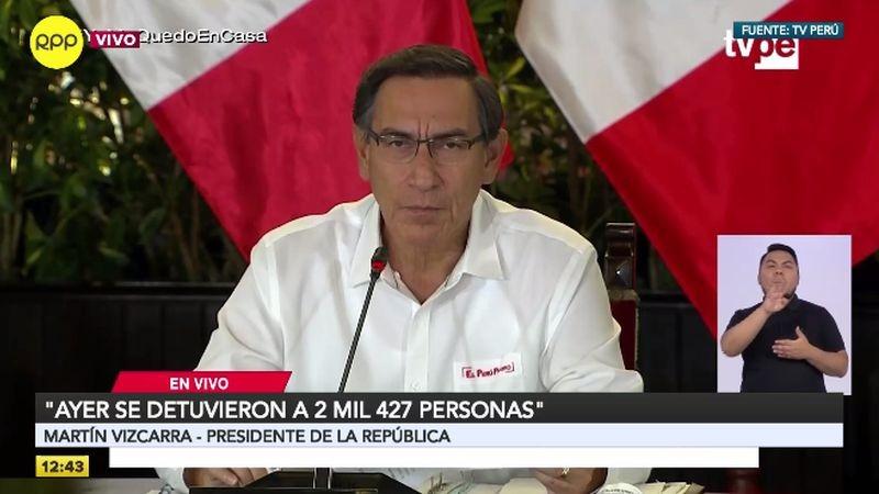 Martín Vizcarra cuestionó a las personas que no acatan las disposiciones.