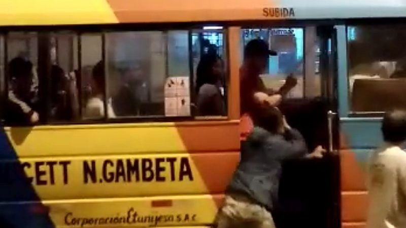Este es el video del asalto que un vecino compartió al Rotafono.