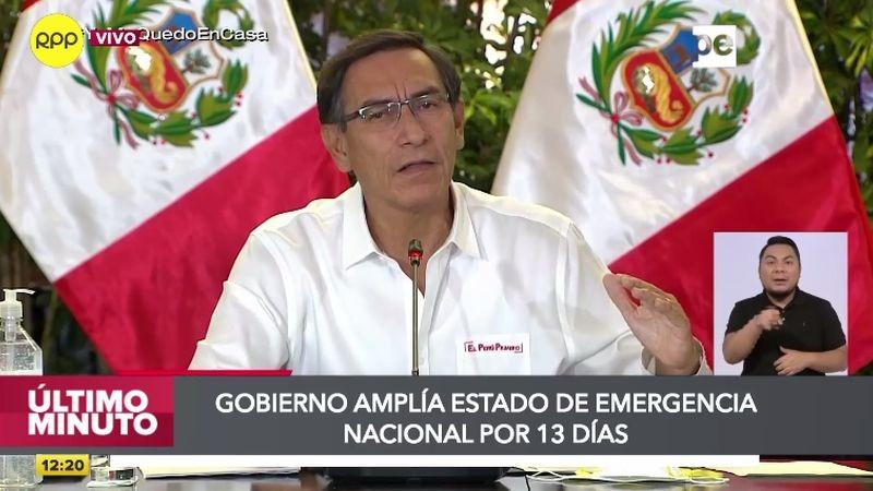 Martín Vizcarra hizo el anuncio en su habitual conferencia de prensa.