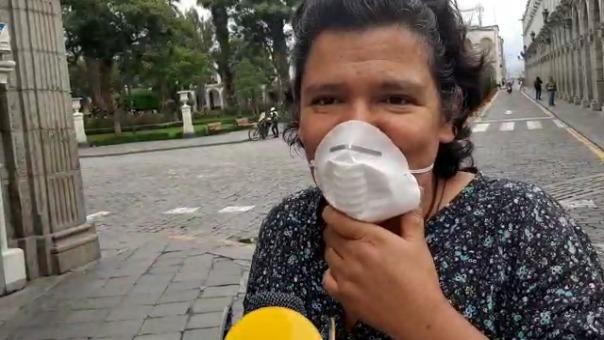 La ciudadana Iris Cadillo, dijo en RPP, que le da gusto no encontrar ciudadanos en las calles, pues significa que están respetando la cuarentena.
