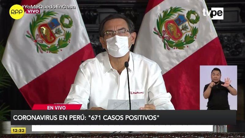 Martín Vizcarra dio el nuevo balance de contagios en conferencia de prensa.