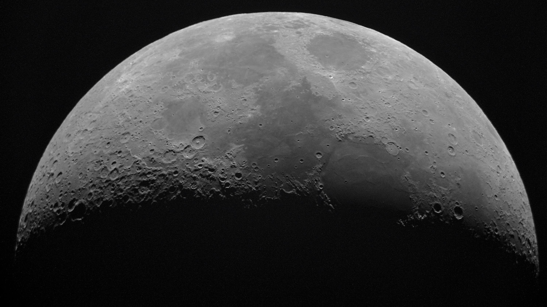 Una vista de la Luna en alta resolución