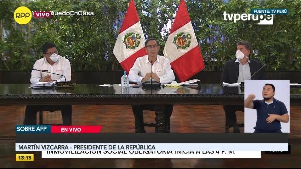 Presidente Vizcarra hizo un nuevo balance de la lucha contra el coronavirus.