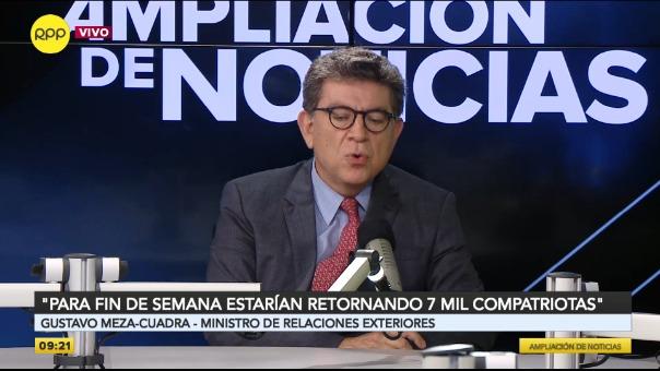 Gustavo Meza-Cuadra, ministro de Relaciones Exteriores.