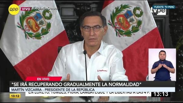 Martín Vizcarra responde sobre avances en la lucha contra el coronavirus.