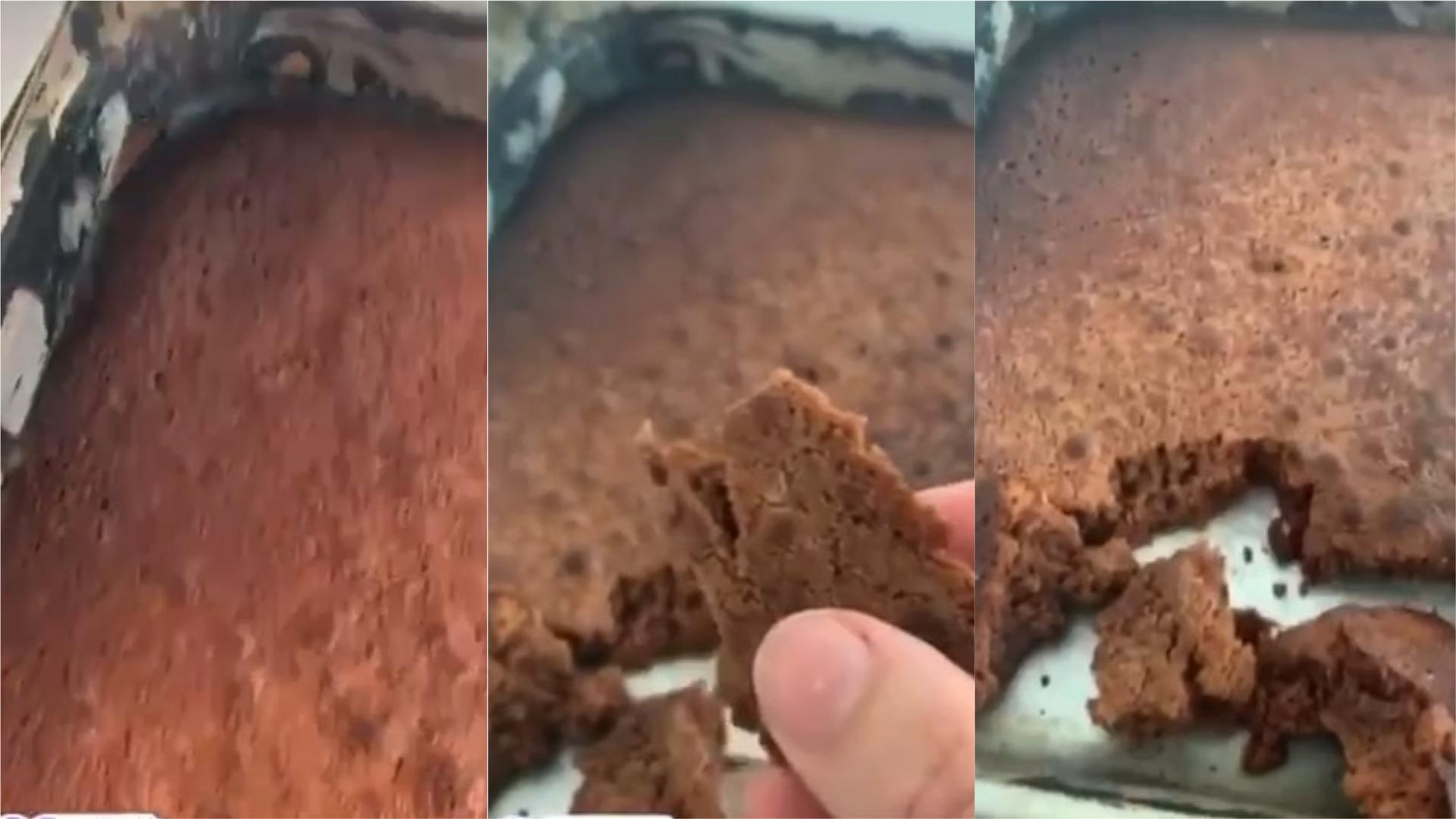 Pese a que no se le salió del todo bien, la cantante volvió a hacer brownies nuevamente con la temperatura correcta.