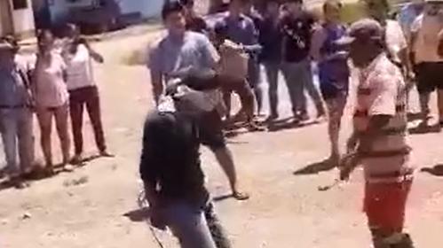 Los ronderos del distrito de Mazamari atraparon y castigaron a Rolando Vitor Navarro.