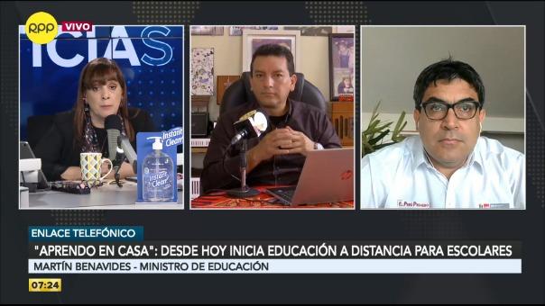 Ministro de Educación en entrevista con RPP Noticias.
