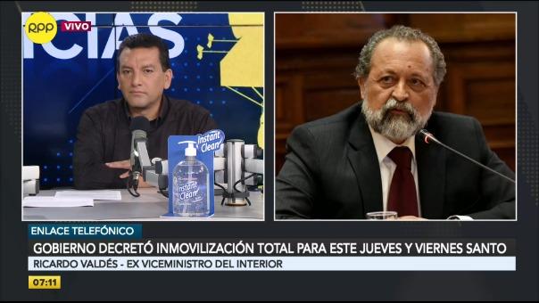 El exviceministro del Interior Ricardo Valdés comenta las medidas del Estado de Emergencia.