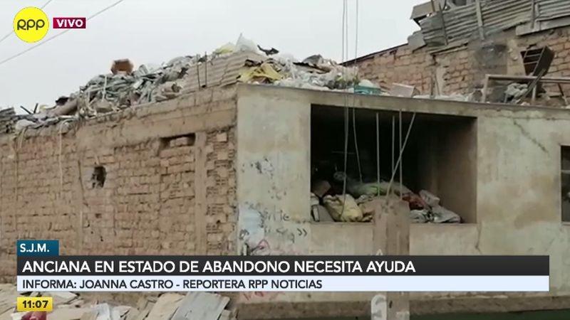 RPP Noticias llegó a la zona de Pamplona y comprobó que la anciana vive en condiciones insalubres.