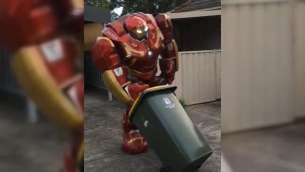 Los trajes de superhéroes tampoco se hicieron demorar y se sumaron al reto.