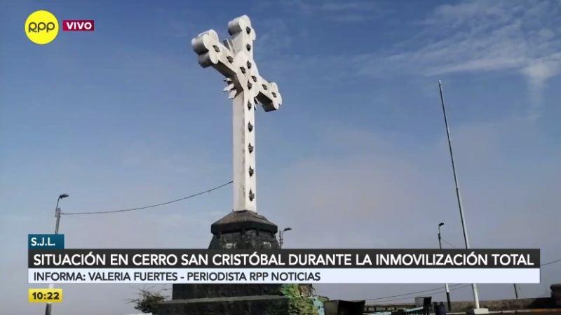 Así luce el cerro San Cristóbal este Viernes Santo de cuarentena.