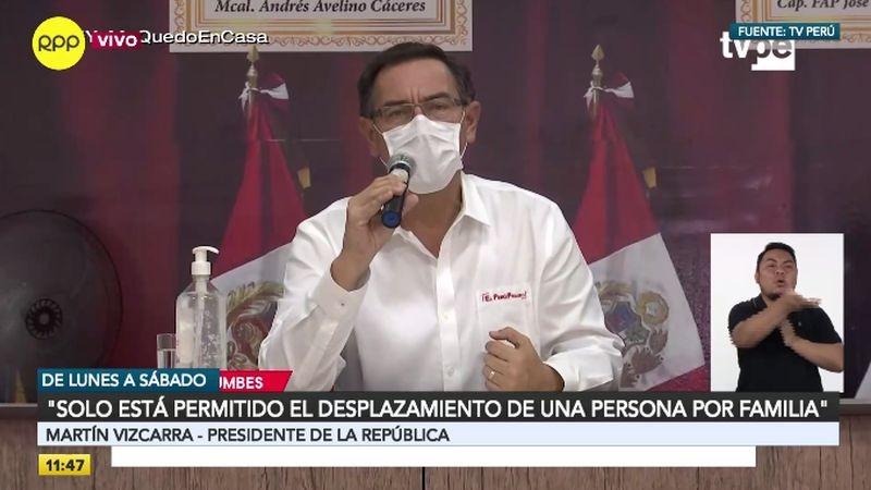 Martín Vizcarra hizo estos anuncios en conferencia de prensa desde Tumbes.