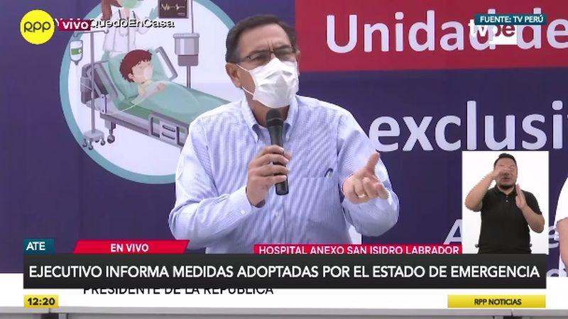 Martín Vizcarra dio nuevos datos de la enfermedad en conferencia de prensa.