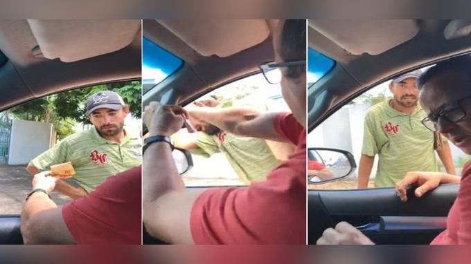 Estas son las imágenes que generaron la indignación de Juninho Pernambucano