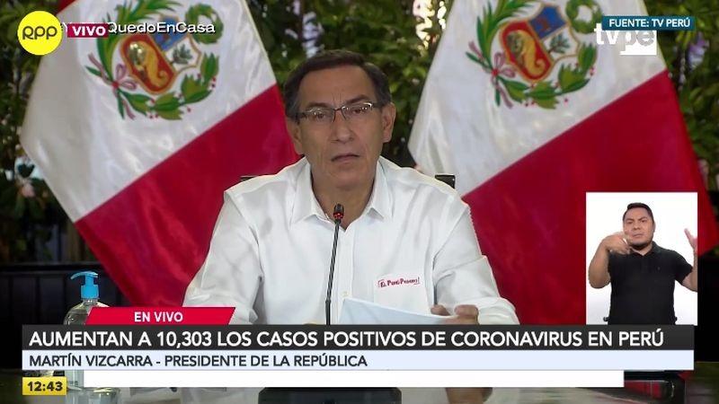 Martín Vizcarra actualizó las cifras de contagiados en conferencia de prensa desde Palacio.
