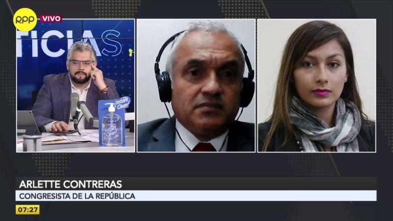 Arlette Contreras en entrevista con RPP Noticias.