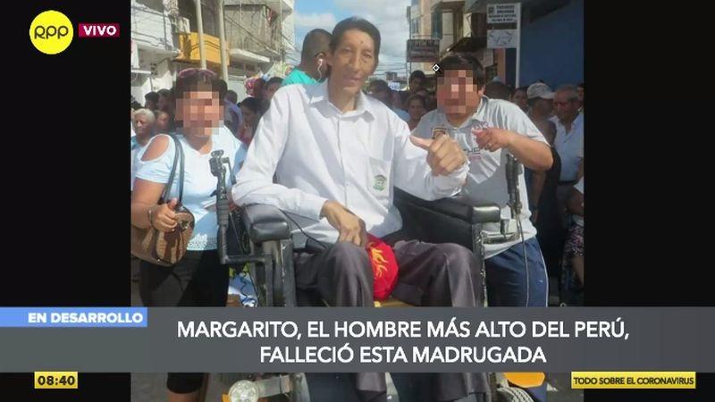 Margarito Machacuay estaba internado en Lima debido a una afección pulmonar.