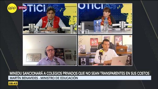 Entrevista a Martín Benavides, ministro de Educación.