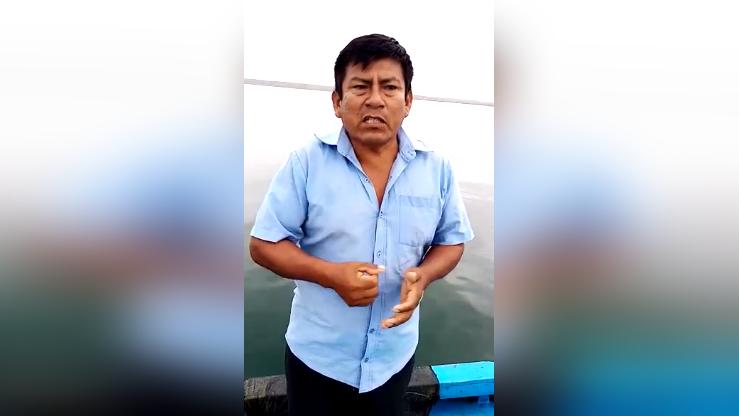 Presidente de la Asociación de Pescadores Artesanales, Juvencio Vílchez Elías