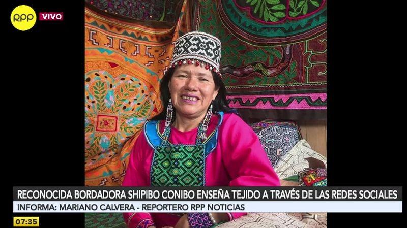 Olinda Silvano compartió imágenes de sus obras con RPP Noticias.