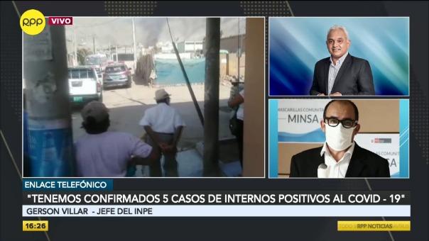 Declaraciones de Gerson Villar, jefe del Instituto Nacional Penitenciario (INPE).