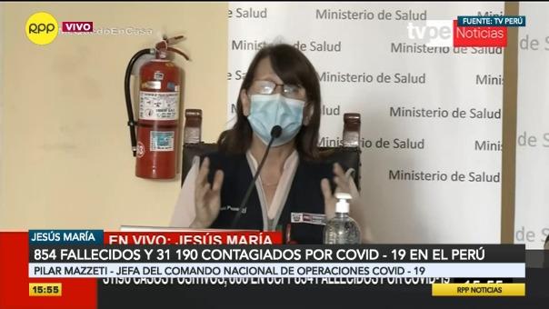 Pilar Mazzetti, jefa del Comando COVID-19.
