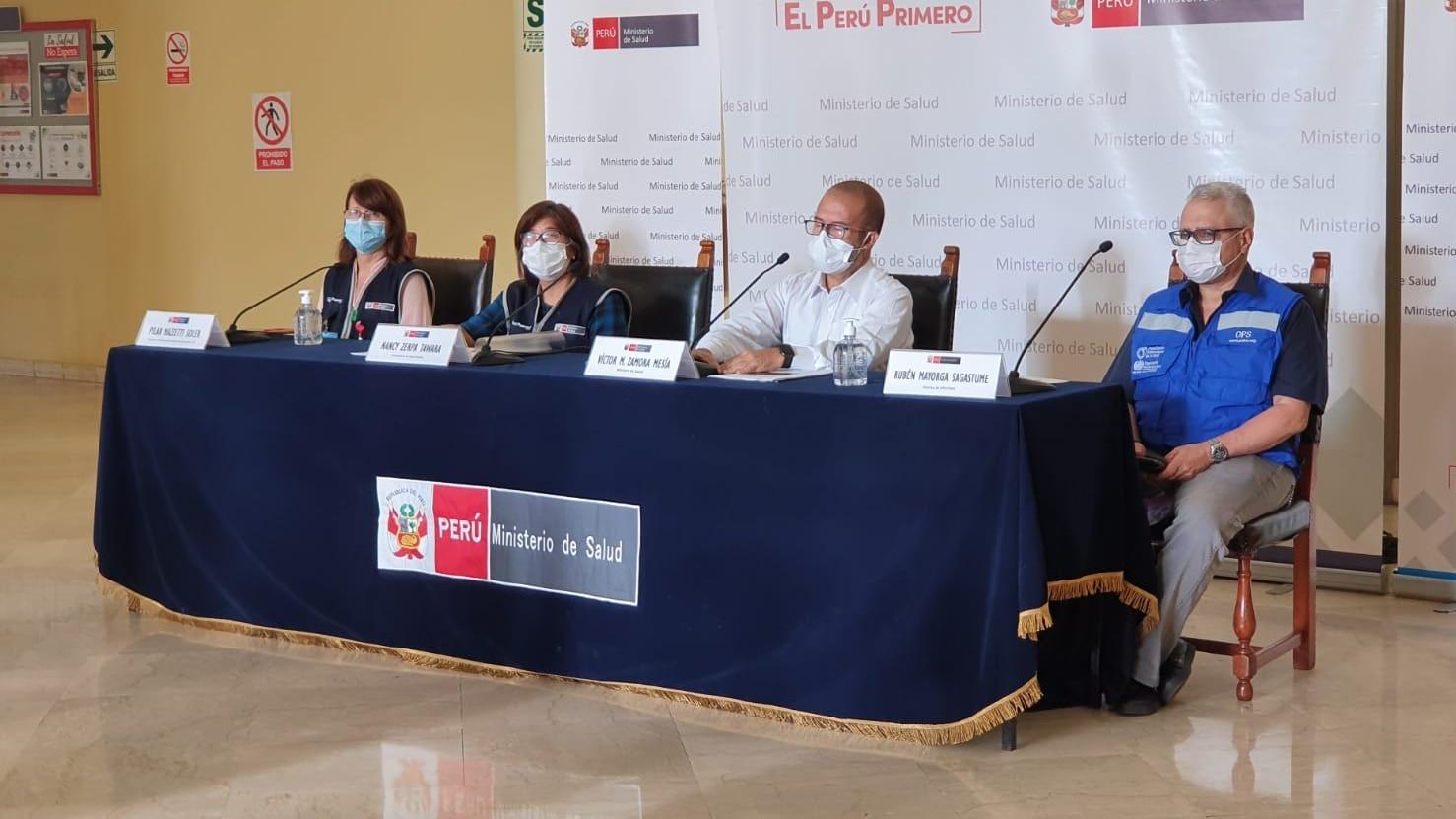 El ministro Zamora informa sobre las acciones del Minsa ante la COVID-19.