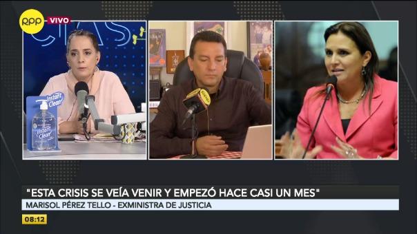 Marisol Pérez Tello, exministra de Justicia.