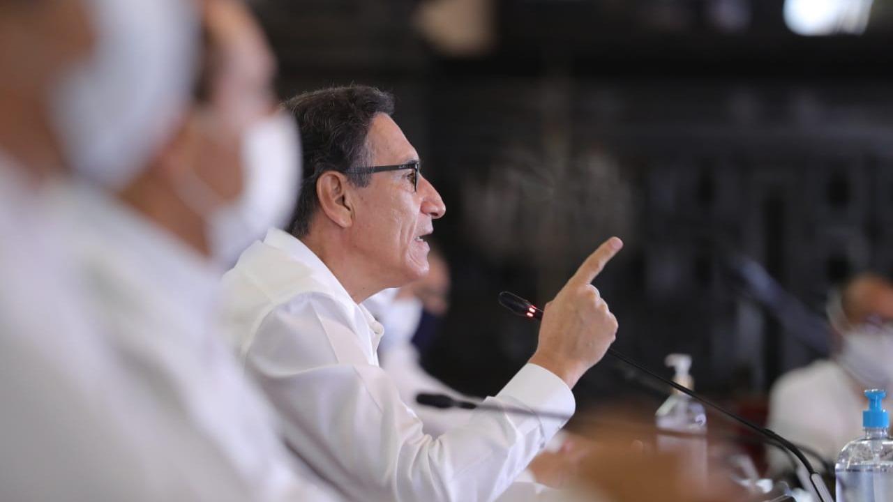 Presidente Vizcarra hizo el anuncio en conferencia de prensa.