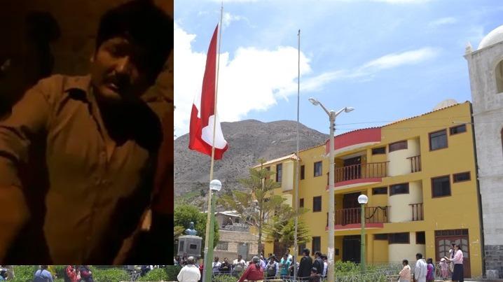 El alcalde del distrito de Huanuara fue filmado en aparente estado de ebriedad, por pobladores que lo fueron a buscar.