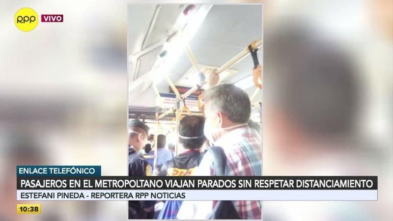 Esta es la situación que enfrentan los usuarios del Metropolitano.