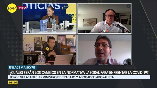 Entrevista al exministro de Trabajo Jorge Villasante.