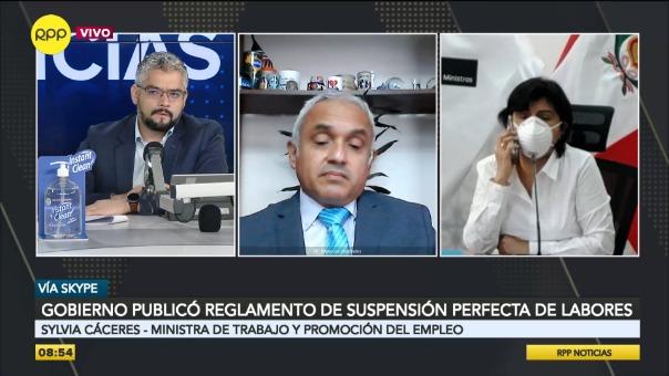 Entrevista a Sylvia Cáceres, ministra de Trabajo.