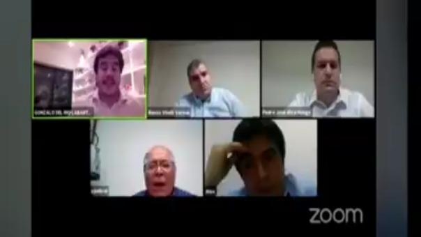 El juez supremo César San Martín conversa con abogados sobre la justicia en tiempos de coronavirus.