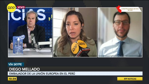Diego Mellado, embajador de la Unión Europea en el Perú.