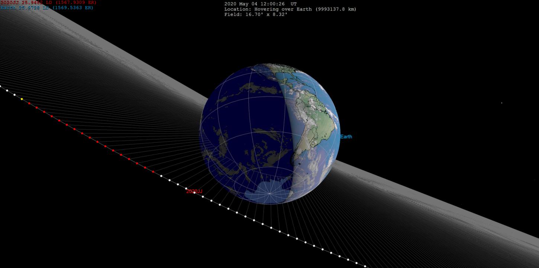 2020 JJ solo fue detectado cuando se acercó bastante a la Tierra.