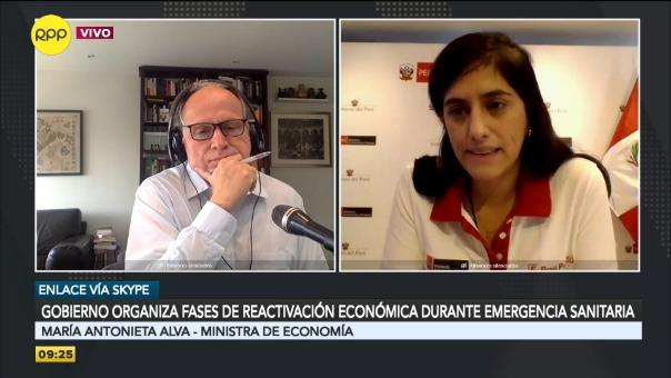 Entrevista a la ministra de Economía, María Antonieta Alva.