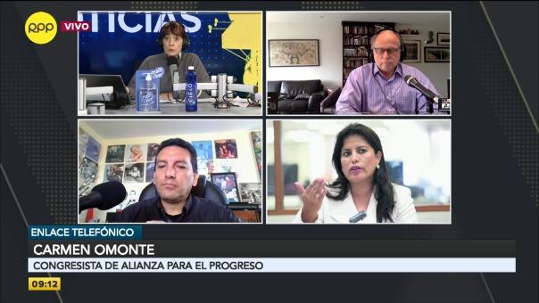 Carmen Omonte, congresista de Alianza para el Progreso.