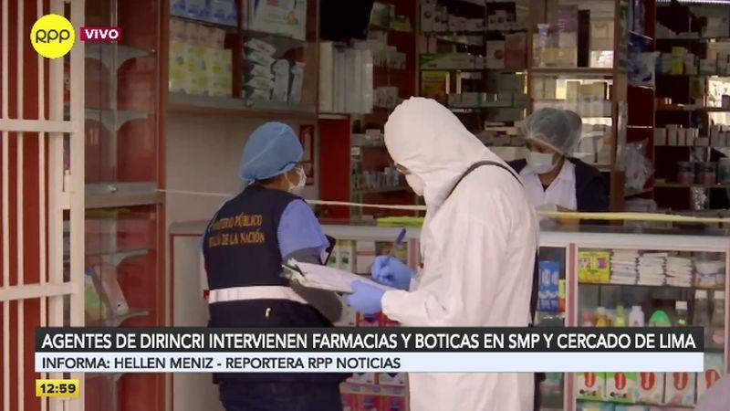 El operativo se realiza en farmacias de SMP y el Cercado de Lima.