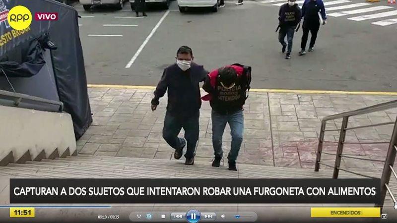 Los detenidos fueron llevados a la sede de la Dirincri.