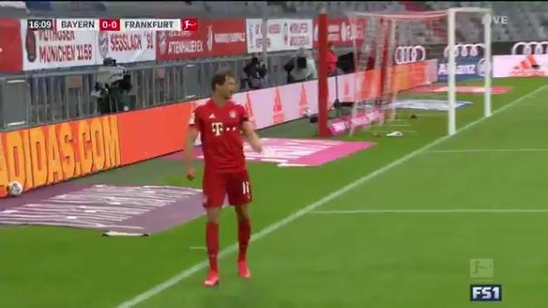 Gol de Leon Goretzka ante Eintracht Frankfurt