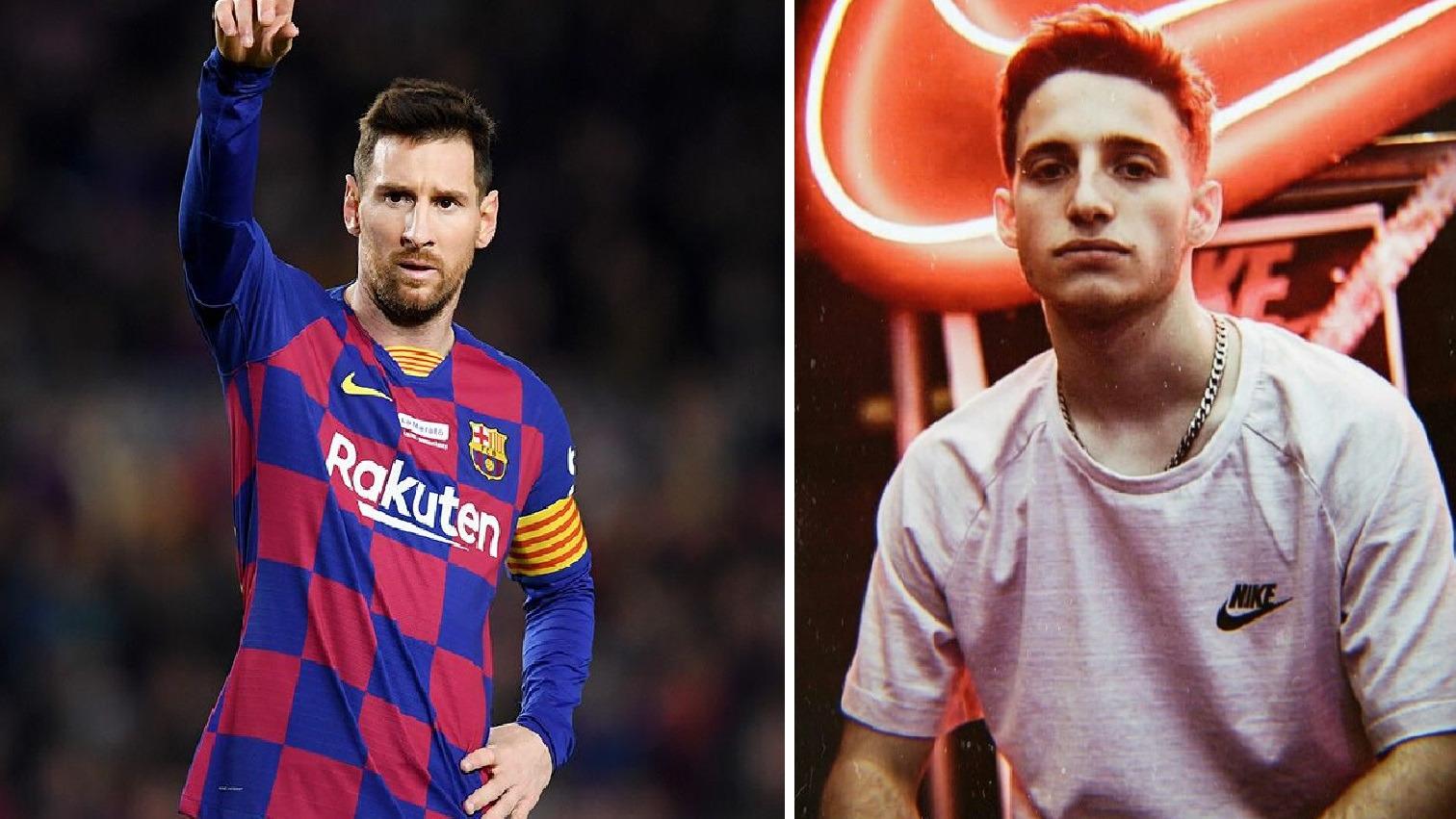 Lionel Messi escuchando Canguro, canción del rapero argentino Wos