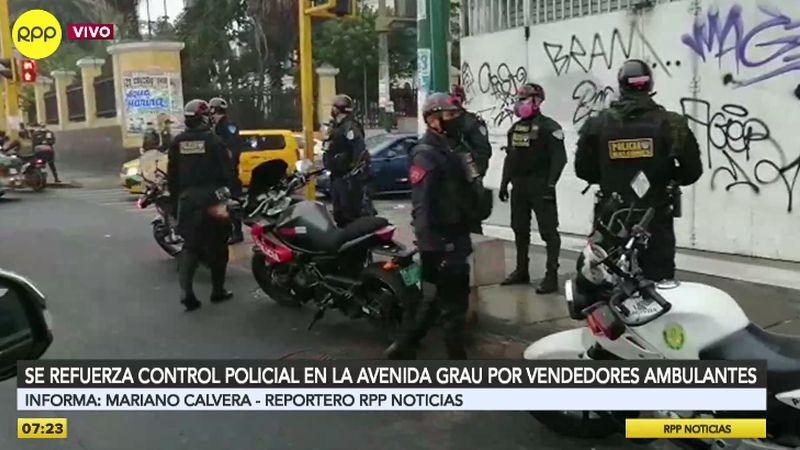 RPP Noticias realizó esta mañana un recorrido por la avenida Grau.