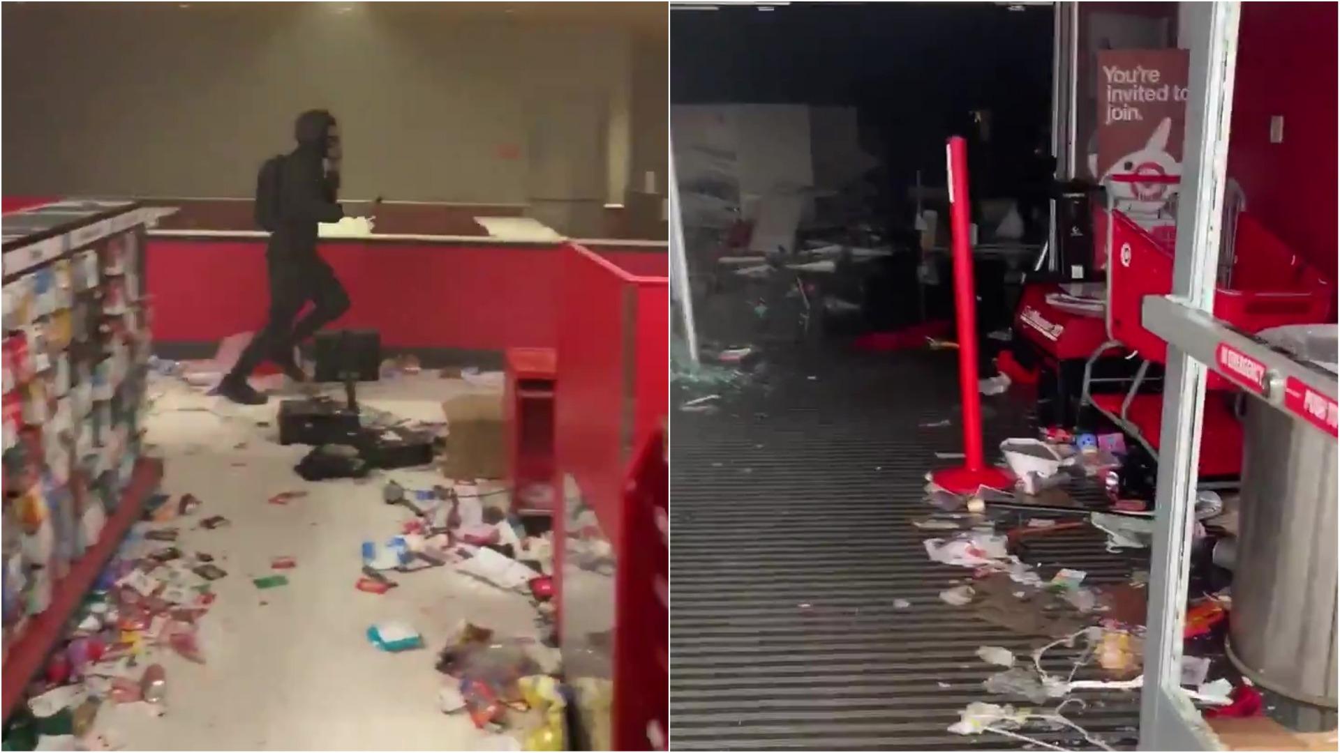 Así quedó la tienda Target tras los saqueos.